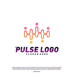 pulse logo design concept people beat logo vector image