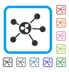 Ripple links framed icon vector
