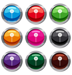 round candy set 9 collection vector image