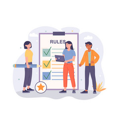 rules in office concept vector image