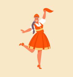 russian dance girl vector image