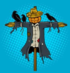scarecrow pop art vector image vector image
