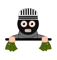 Scared thief cartoon vector