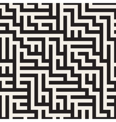 Seamless Geometric Maze Pattern vector image