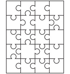 Separate parts of puzzle vector