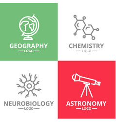 set of science and research logo or vector image