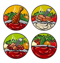 set of tomato sauces vector image