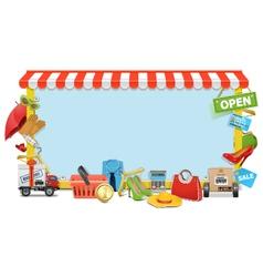 Shopping Board vector image