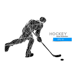 Silhouette a hockey player vector