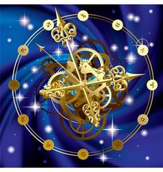 Star clock vector image