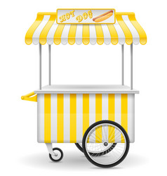 street food cart hot dog vector image