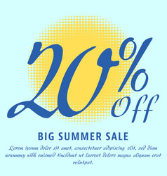 Summer sale template vector