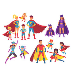 superhero family characters superheroes character vector image