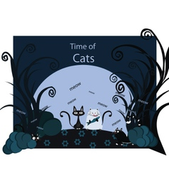 Time of cats vector image