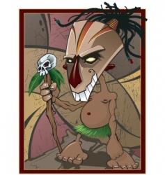 Voodoo witchdoctor vector
