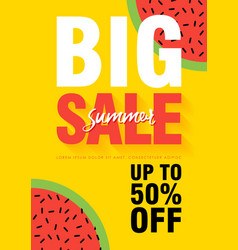 watermelon super summer sale banner template vector image
