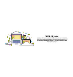 web design development concept horizontal banner vector image
