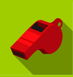 whistle icon flate single sport icon from the big vector image