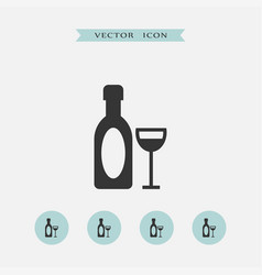 Wine icon simple vector