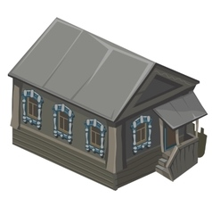 Wooden old house in rustic style with porch vector image