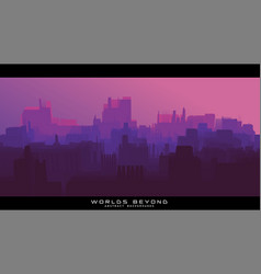 worlds beyond abstract sci-fi city landscapes vector image