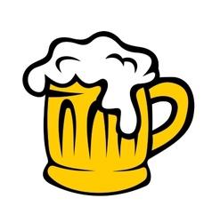 Cartoon tankard of frothy beer vector image
