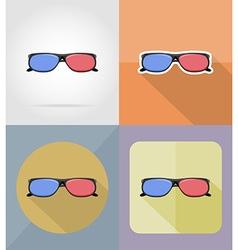 cinema flat icons 15 vector image vector image