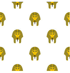 egyptian golden pharaohs mask pattern seamless vector image