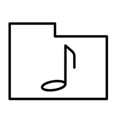 music folder thin line icon pictogram vector image