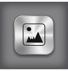 Photography icon - metal app button vector image vector image