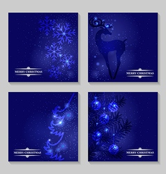 blue backg set vector image