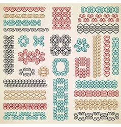 border design elements set vector image