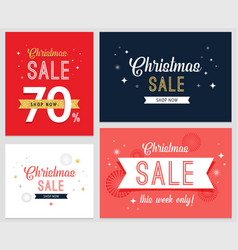 christmas sale banner set vector image vector image