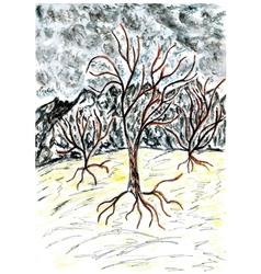 Dead Tree Sketch02 vector image vector image