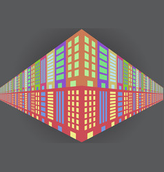 abstract building flat icon logo background vector image
