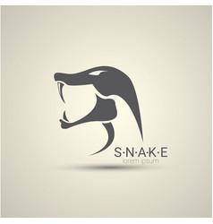 angry dangerous snake logo design vector image