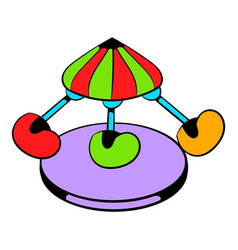 Children carousel icon icon cartoon vector