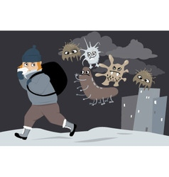Cold and flu vector image