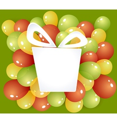 Gift frame with balloons vector image vector image