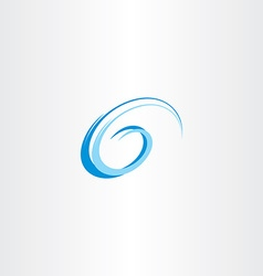 letter g swirl blue water wave vector image