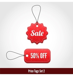 Price tags set 2 vector image