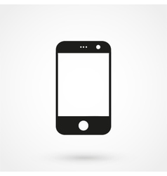 smartphone icon black on white background vector image vector image