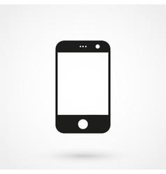 smartphone icon black on white background vector image