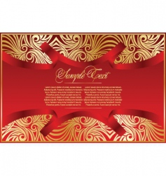 abstract card with pattern vector image vector image