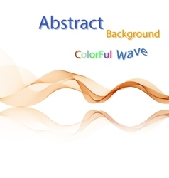 Abstract colorful smoky waves on mirror vector image vector image