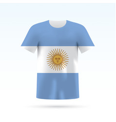 Argentina flag t-shirt vector