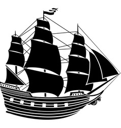 caravel vector image