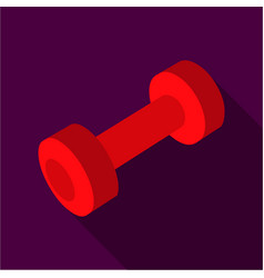 Dumbbells icon flate single sport icon from the vector