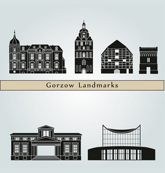 gorzow wlkp landmarks vector image