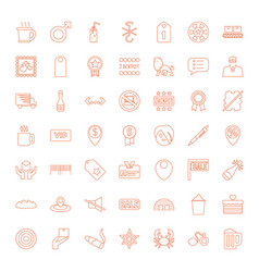 49 label icons vector image